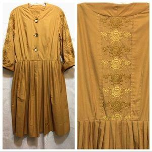 Vintage 1950s Tea Swing Dress Plus Size